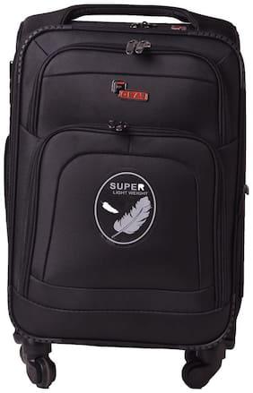 F Gear Cabin Size Soft Luggage Bag ( Black , 4 Wheels )