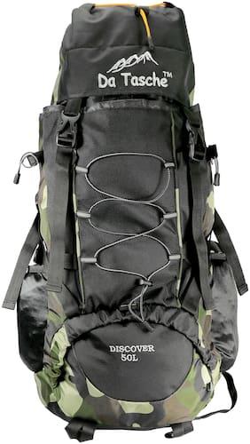 Da Tasche Polyester Men Hiking bag & Rucksack - Black