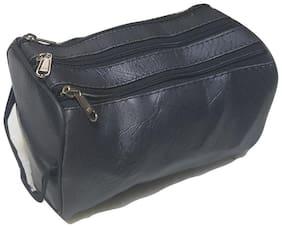 Da Tasche Three Zipper Multi-purpose Travel Pouch/Jewellery Pouch/Lunch Bag