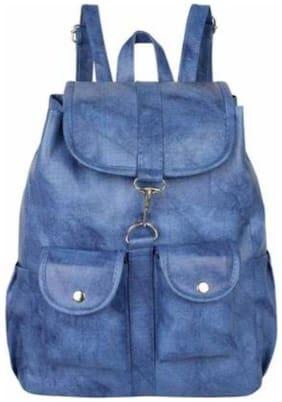 DarkSky Blue PU Backpack