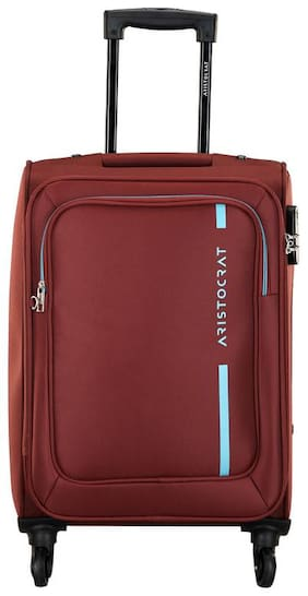 ARISTOCRAT Dasher Cabin Size Soft Luggage Bag ( Red , 4 Wheels )