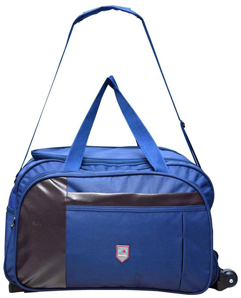 Dejan Bags Polyester Nylon 50 L Duffle Soft Sided Trolley Travel Tourist Bag  Blue