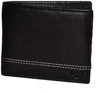 DHide Designs Women Black Leather Wallet