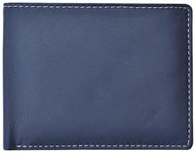 DHide Designs Women Blue Leather Wallet