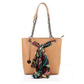 Diana Korr Women Faux Leather Handheld Bag - Beige