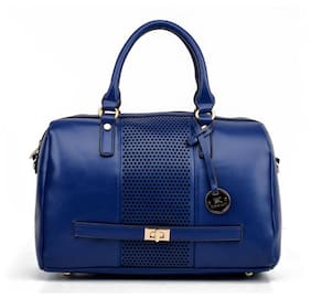 Diana Korr Blue PU Handheld Bag