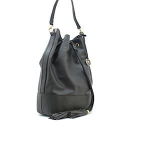Diana Korr Black PU Handheld Bag