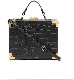Diana Korr Black PU Solid Sling Bag