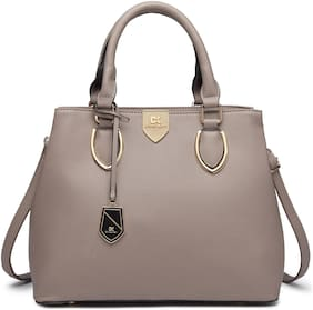 Diana Korr Grey Faux Leather Shoulder Bag