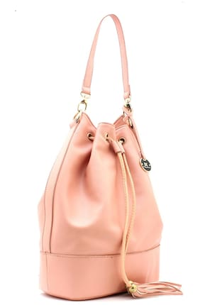 Diana Korr Pink Faux Leather Handheld Bag