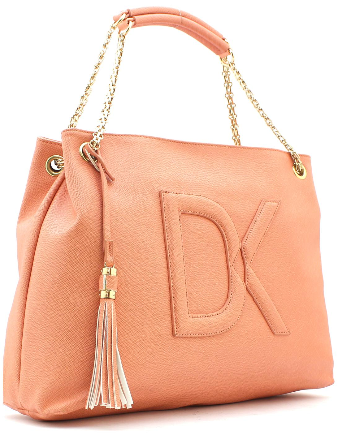 Diana Korr Orange PU Handheld Bag