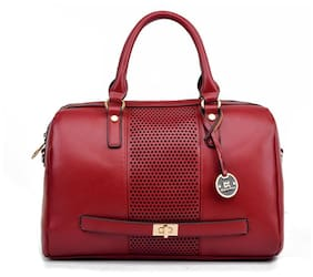 Diana Korr Red PU Handheld Bag
