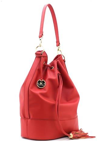 Diana Korr Red PU Handheld Bag