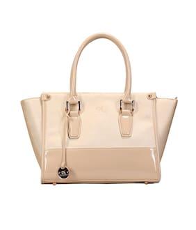 Diana Korr Beige PU Handheld Bag