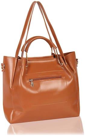 DN PU Women Handheld Bag - Tan
