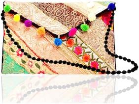 DN Women Floral Fabric - Sling bag Multi