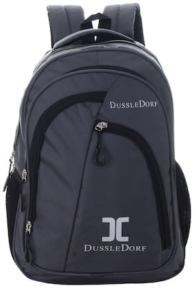 DUSSLE DORF Grey Waterproof Polyester Backpack