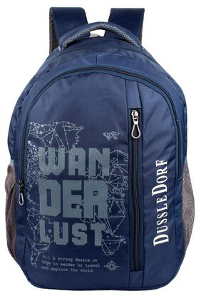 Dussledorf Polyester 18 Liters Blue Laptop Backpack With 2 Compartment And Adjustable Strap (DUSS-IX-07)