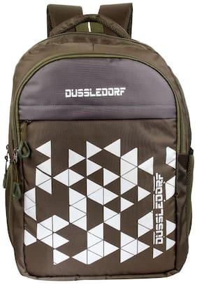 DUSSLE DORF Green Waterproof Polyester Backpack