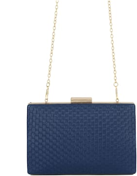 E2O Women Solid PU - Clutch Blue