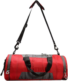 Easy Polyester Unisex Gym Bag - Red & Grey