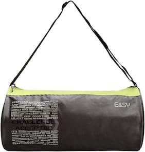 Easy Polyester Unisex Gym Bag - Green & Grey