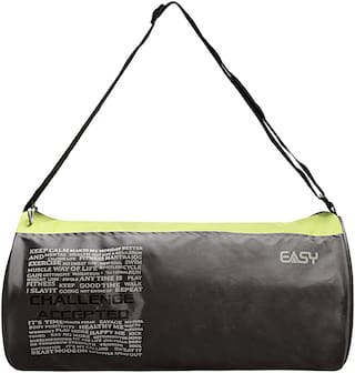 Easy Polyester Unisex Gym Bag - Green & Grey