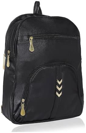 Kleio Black PU Backpack