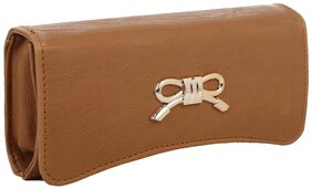 ELEMENT CART Women Solid Faux Leather - Clutch Brown