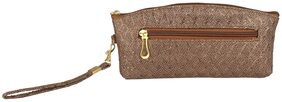 ELEMENT CART Women Faux Leather Clutch - Brown