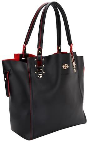 Elespry Black And Red Peekaboo Bag
