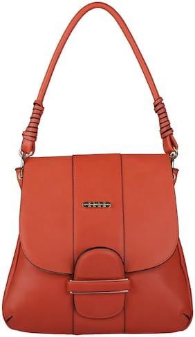 ELLE PU Women Satchel - Orange