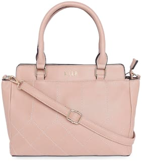 ELLE Pink PU Satchel