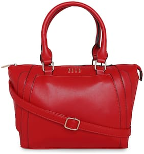 ELLE Women Solid PU - Tote Bag Red
