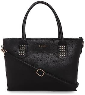 ELLE Women Solid PU - Tote Bag Black