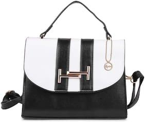 ELPRINE Women Solid PU - Sling Bag Black