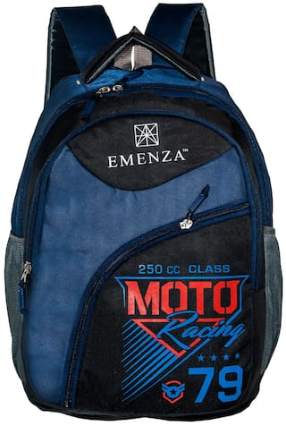 EMENZA 25 Blue Polyester Laptop backpack