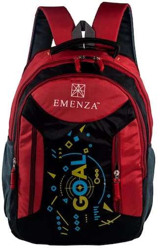 EMENZA 25 Red Polyester Laptop backpack