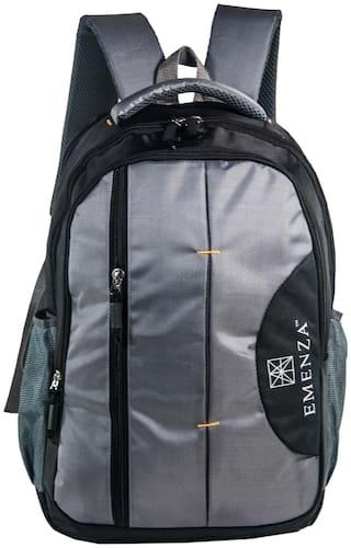 EMENZA 25 Grey Polyester Laptop backpack