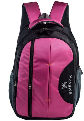 EMENZA 25 Pink Polyester Laptop backpack