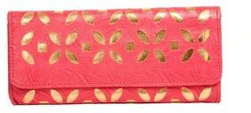 Aliado Women Faux Leather Clutch - Pink