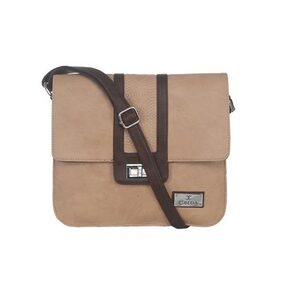 ESBEDA Beige color Solid Slingbag for womens
