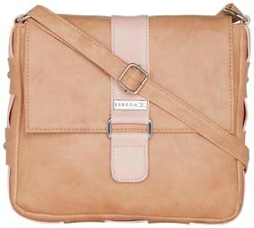 Esbeda Women Solid Pu - Sling Bag Beige