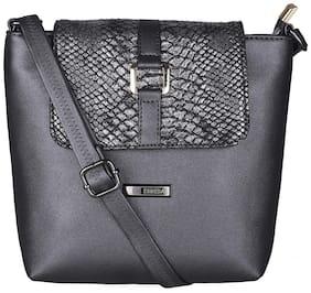 Esbeda Women Embellished PU - Sling Bag Black