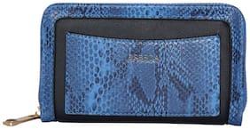 Esbeda Blue Color Printed Animal Textured Wallet For Women