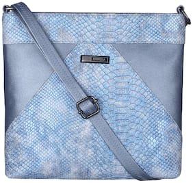Esbeda Women Embellished PU - Sling Bag Blue
