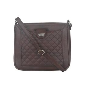 ESBEDA Brown color Quilted Slingbag for womens