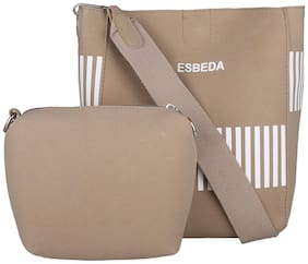Esbeda PU Women Handheld Bag - Beige
