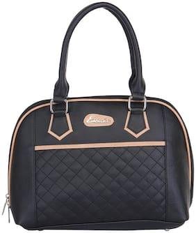 Esbeda Black PU Shoulder Bag - quilted handbag