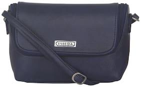Esbeda Women Solid Faux leather - Sling bag Blue